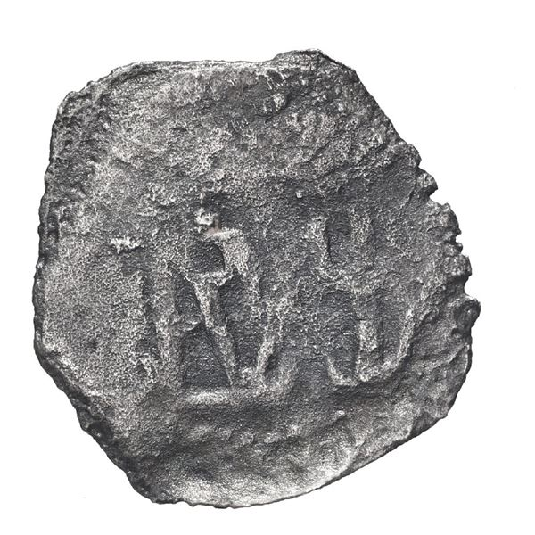 """Lima, Peru, cob 1/2 real, Philip IV, """"Star of Lima"""" type (very rare), date and assayer not visible ("""