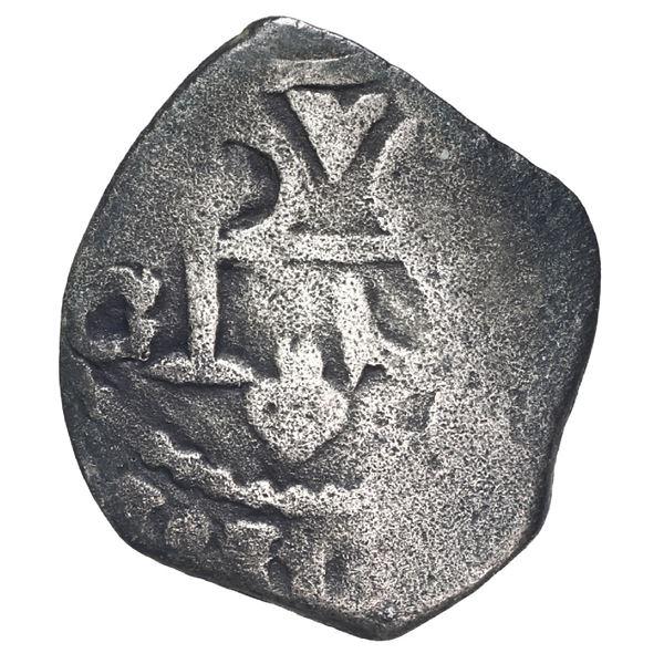 Mexico City, Mexico, cob 1/2 real, Philip IV (posthumous), assayer G, rare, ex-Gates.
