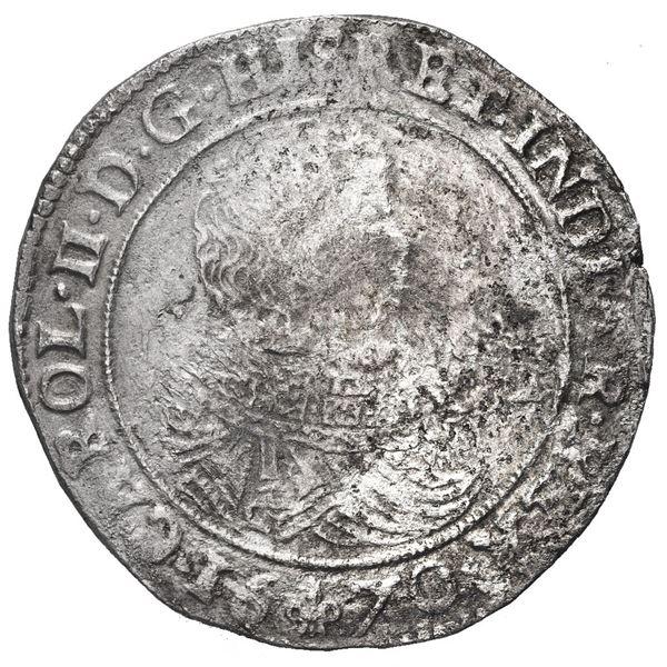 Flanders, Spanish Netherlands, portrait ducatoon, Charles II, 1670.