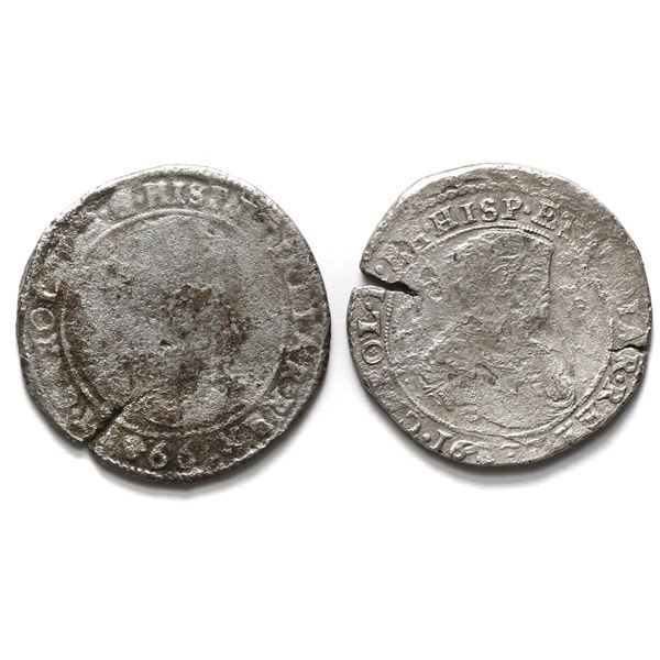 Lot of two Brabant, Spanish Netherlands (Brussels Mint), portrait ducatoons of Charles II: 1666 and
