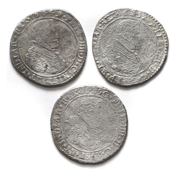 Lot of three Brabant, Spanish Netherlands (Antwerp Mint), portrait ducatoons of Philip IV: 1649, 165