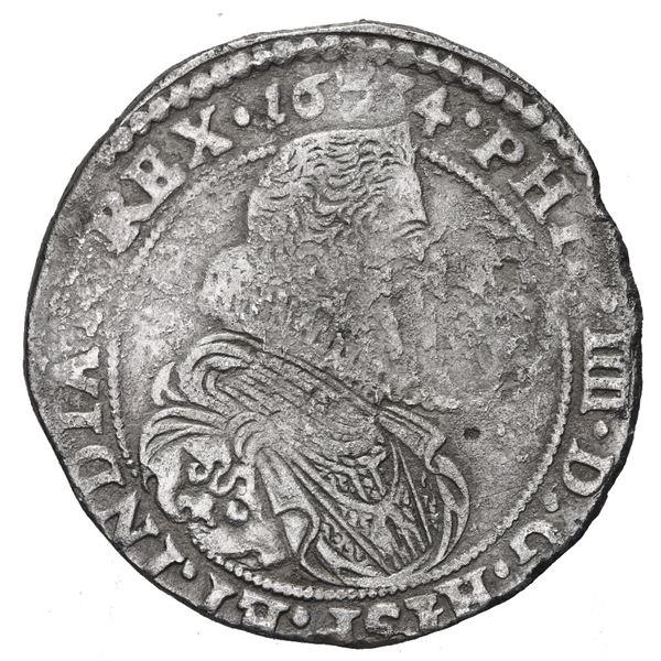 Brabant, Spanish Netherlands (Antwerp Mint), portrait 1/2 ducatoon, Philip IV, 1634.