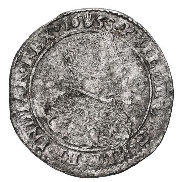 Brabant, Spanish Netherlands (Antwerp Mint), portrait 1/2 ducatoon, Philip IV, 1658.