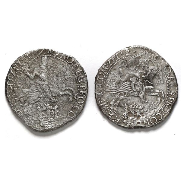 """Lot of two Zeeland, United Netherlands, """"rider"""" ducatoons: 1660 and 1661."""