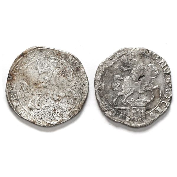 """Lot of two Campen, United Netherlands, """"rider"""" ducatoons: 1669 and 1679."""
