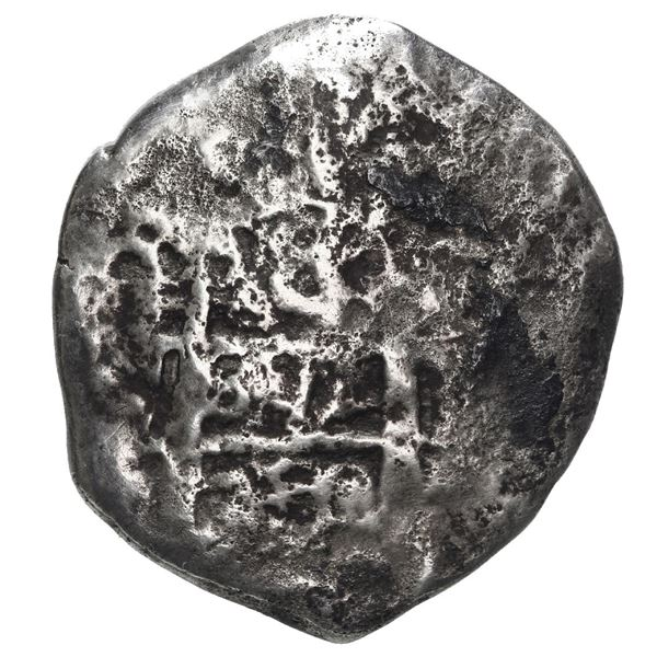 Potosi, Bolivia, cob 8 reales, 1750 q, rare.