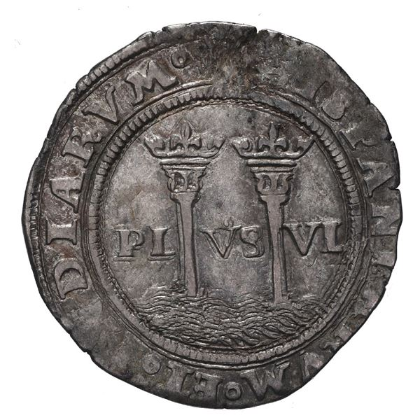 """Mexico City, Mexico, 1 real, Charles-Joanna, """"Late Series,"""" assayer G to right, mintmark M to left."""