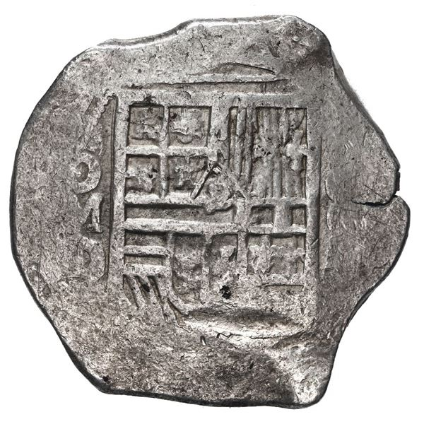 Mexico City, Mexico, cob 8 reales, Philip III, assayer D.