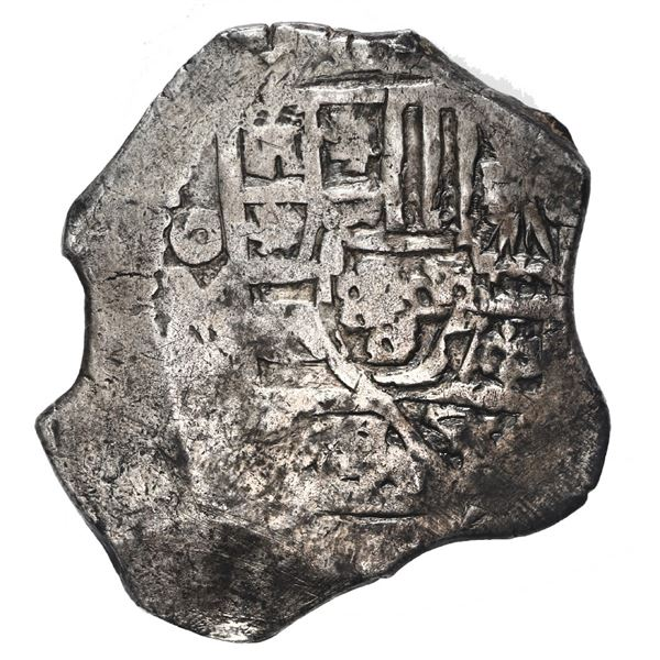 Mexico City, Mexico, cob 4 reales, Philip V, assayer L (1702-5).
