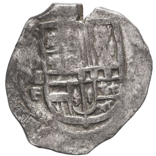 Mexico City, Mexico, cob 2 reales, 1615 F, very rare.