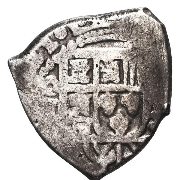 Mexico City, Mexico, cob 2 reales, 1721 (J), very rare.