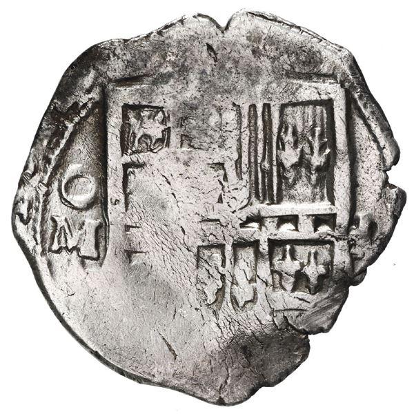 Mexico City, Mexico, cob 1 real, 1614 F, very rare.