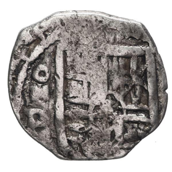 Mexico City, Mexico, cob 1 real, 1644 P, very rare.