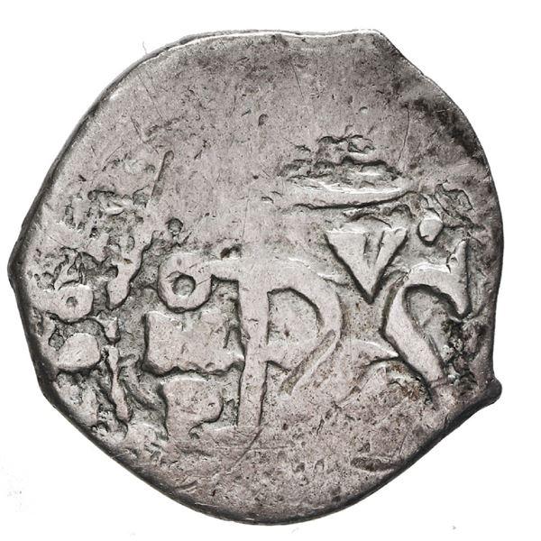 Mexico City, Mexico, cob 1/2 real, 1661 P, rare.