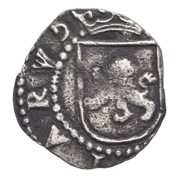 Lima, Peru, cob 1/4 real, Philip II, assayer Diego de la Torre, no mintmarks nor assayer, ex-Stallar