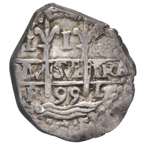 Lima, Peru, cob 1 real, 1695 R.