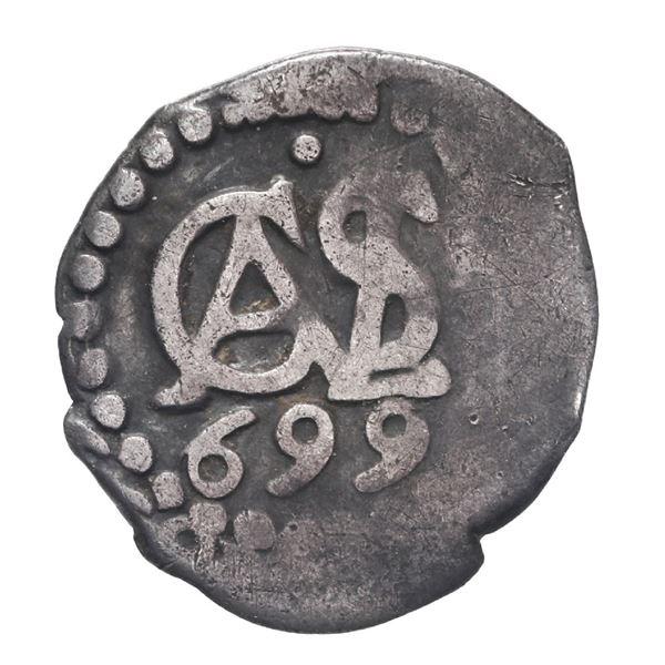 Lima, Peru, cob 1/2 real, 1699.