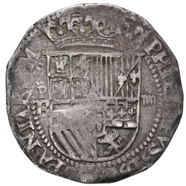 Potosi, Bolivia, cob 4 reales, Philip II, assayer B/L (1st period).