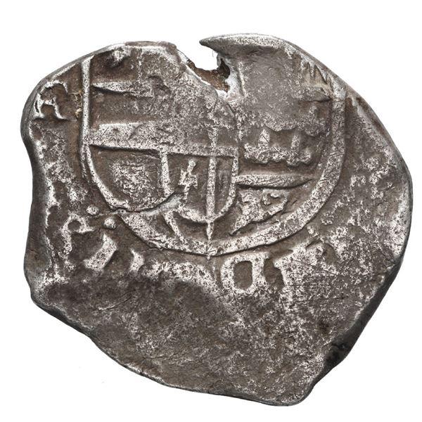 Potosi, Bolivia, cob 4 reales, Philip IV, assayer FR (ca. 1640).
