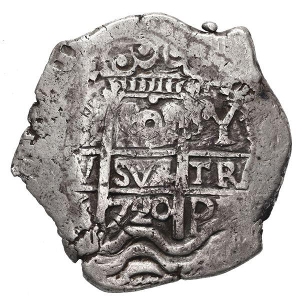 Potosi, Bolivia, cob 8 reales, 1720 Y.