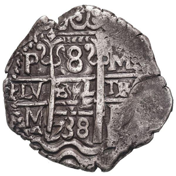 Potosi, Bolivia, cob 8 reales, 1738 M.