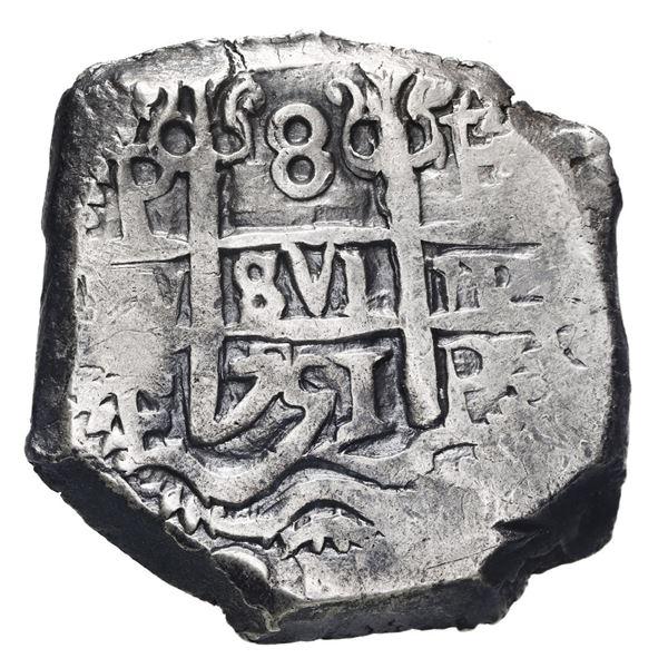 Potosi, Bolivia, cob 8 reales, 1751 E.