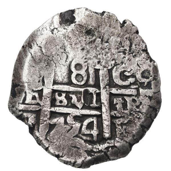 Potosi, Bolivia, cob 8 reales, 1754 C+q.
