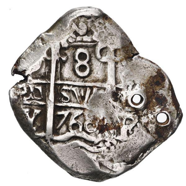 Potosi, Bolivia, cob 8 reales, 1768 V-Y, ex-Bir.