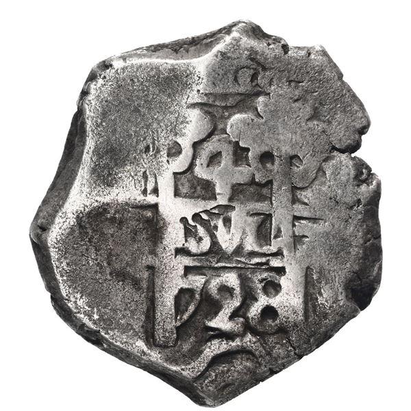 Potosi, Bolivia, cob 4 reales, 1728 (M).