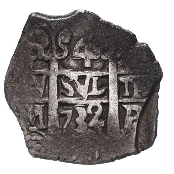 Potosi, Bolivia, cob 4 reales, 1732 M.