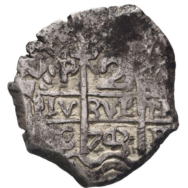 Potosi, Bolivia, cob 2 reales, 1743 C.