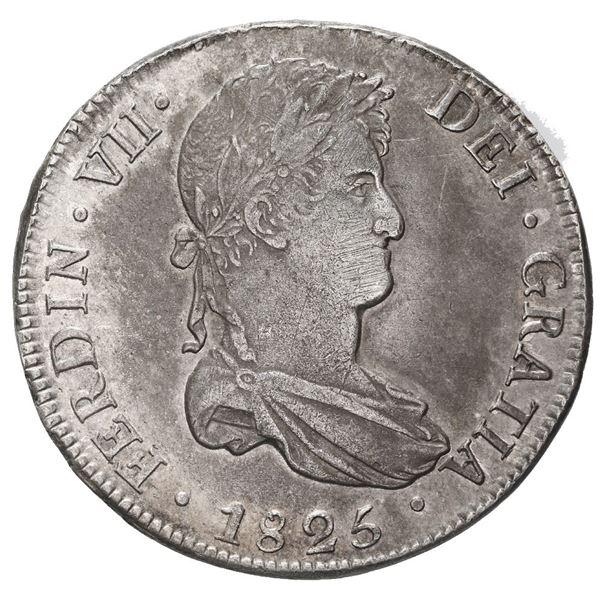 Potosi, Bolivia, bust 8 reales, Ferdinand VII, 1825 JL.