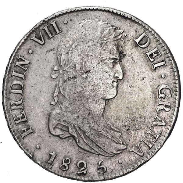 Potosi, Bolivia, bust 8 reales, Ferdinand VII, 1825 J.