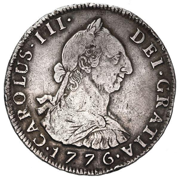 Potosi, Bolivia, bust 4 reales, Charles III, 1776 JR.