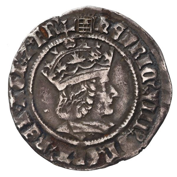 England (London mint), groat, Henry VIII (1509-47), first coinage (1509-26, portrait of Henry VII),