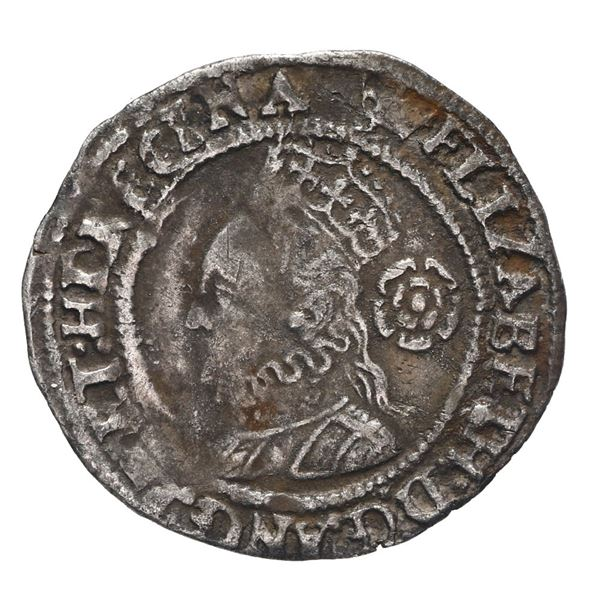 England (London mint), threepence, Elizabeth I, 1568, mintmark coronet.