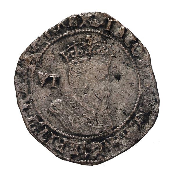 England (London mint), sixpence, James I (fourth bust), 1608, mintmark coronet.