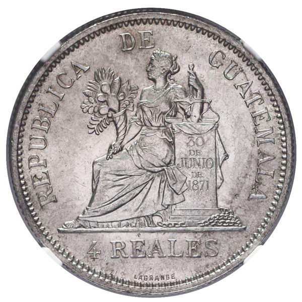 Guatemala, 4 reales, 1894-H, NGC MS 63.
