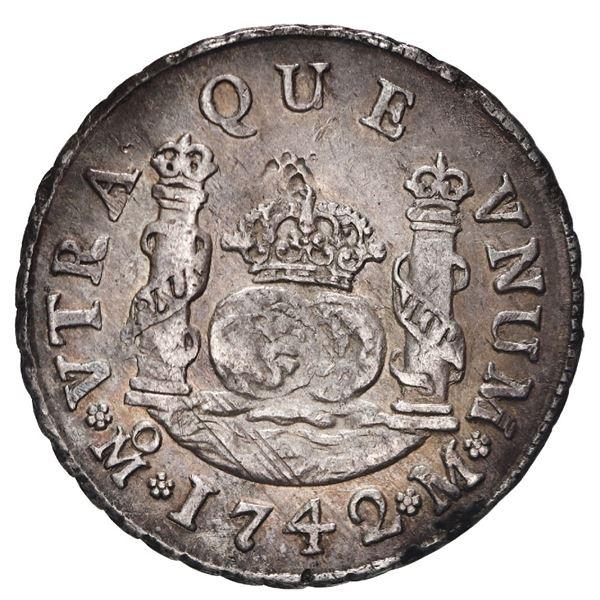 Mexico City, Mexico, pillar 2 reales, Philip V, 1742 M.