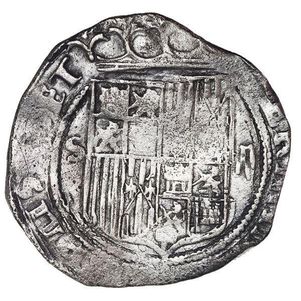 Seville, Spain, 2 reales, Ferdinand-Isabel, mintmark S to left, denomination ii to right, assayer *