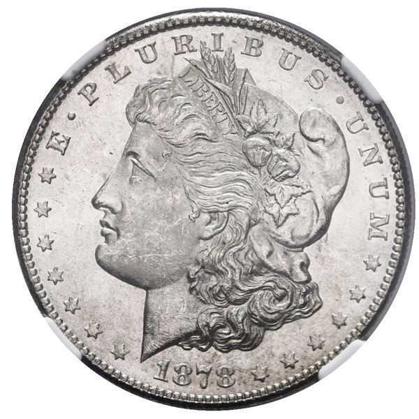 USA (San Francisco Mint), Morgan silver dollar, 1878-S, NGC MS 63.