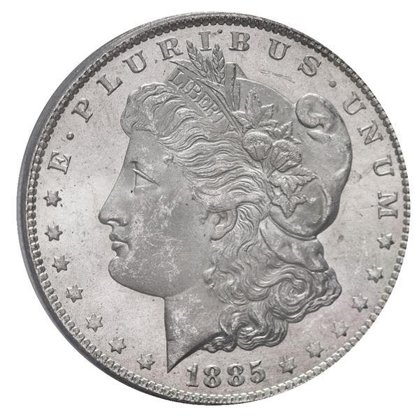 USA (New Orleans Mint), Morgan silver dollar, 1885-O, PCGS MS64.
