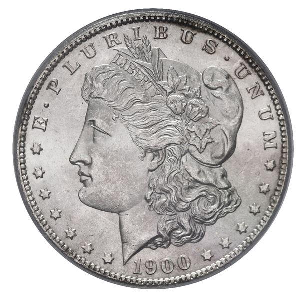 USA (Philadelphia Mint), Morgan silver dollar, 1900, PCGS MS64.