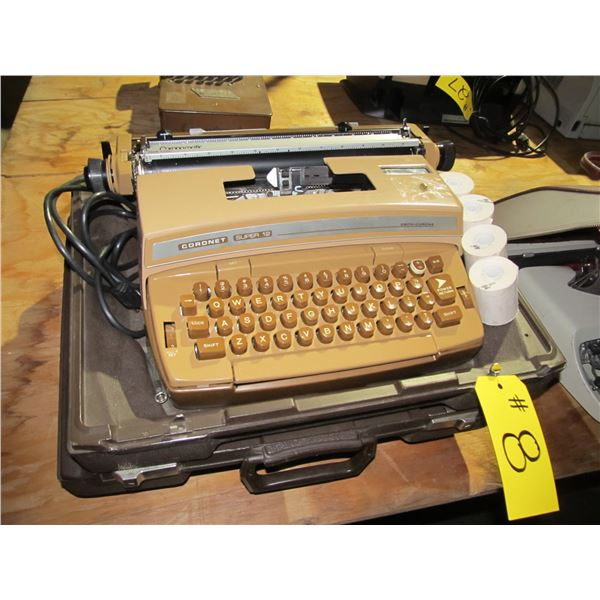 CORONET TYPEWRITER WITH CASE