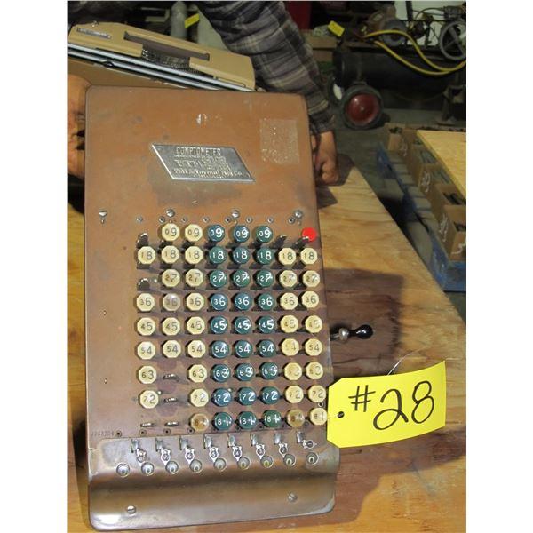 COMPTOMETER ANTIQUE CALCULATOR/ADDING MACHINE