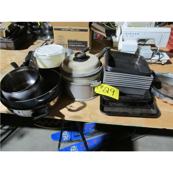 CAKE PANS, COOKIE SHEETS, SKILLETS, STAINLESS STEEL DOUGH MIXING BOWLS PLUS MORE
