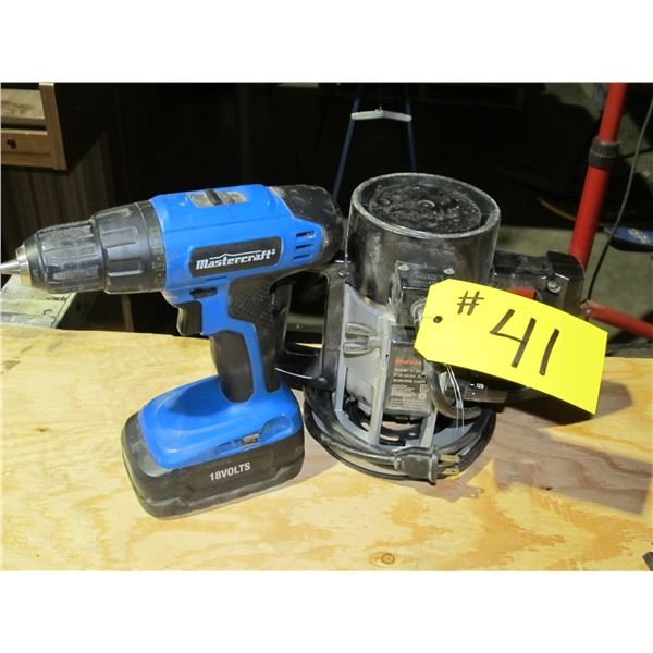 CORDLESS DRILL AND ELECTRIC ROUTER