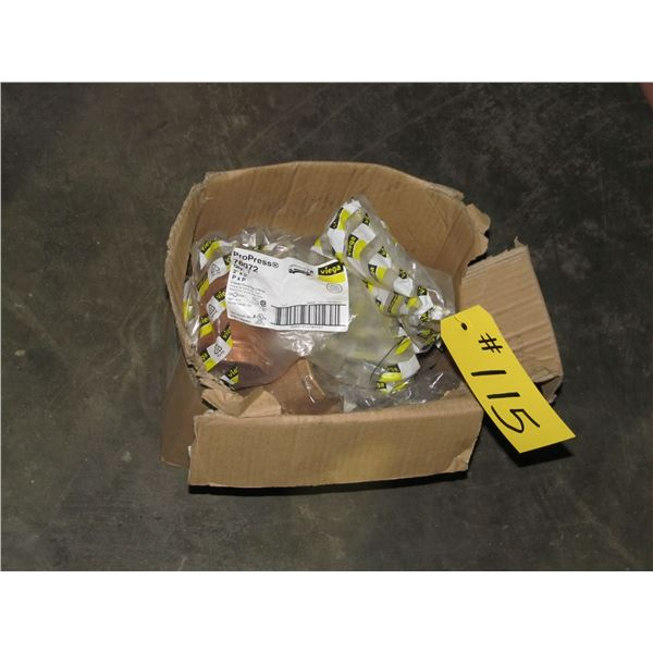 """BOX OF 2"""" COPPER WATER COUPLERS"""