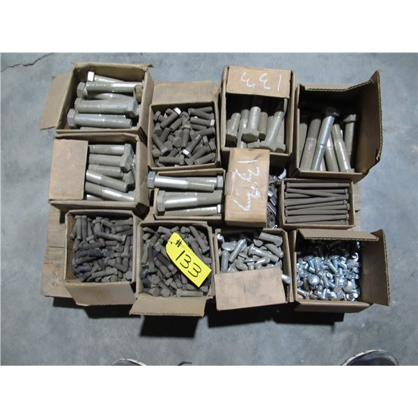 PALLET OF HEAVY BOLTS