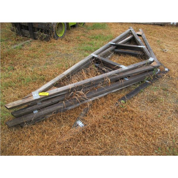 """7 - 15' X 2 X 4"""" TRUSSES (ALL FOR ONE MONEY)"""